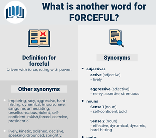 forceful, synonym forceful, another word for forceful, words like forceful, thesaurus forceful