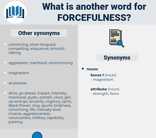 forcefulness, synonym forcefulness, another word for forcefulness, words like forcefulness, thesaurus forcefulness