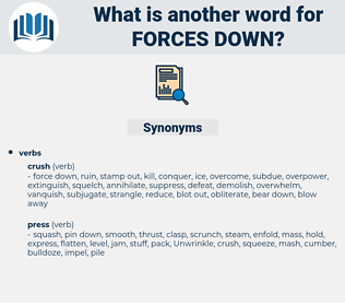 forces down, synonym forces down, another word for forces down, words like forces down, thesaurus forces down
