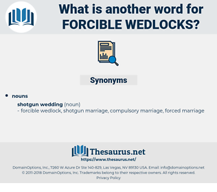 forcible wedlocks, synonym forcible wedlocks, another word for forcible wedlocks, words like forcible wedlocks, thesaurus forcible wedlocks