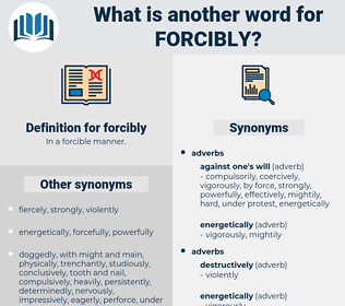 forcibly, synonym forcibly, another word for forcibly, words like forcibly, thesaurus forcibly