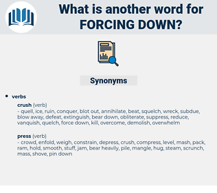 forcing down, synonym forcing down, another word for forcing down, words like forcing down, thesaurus forcing down