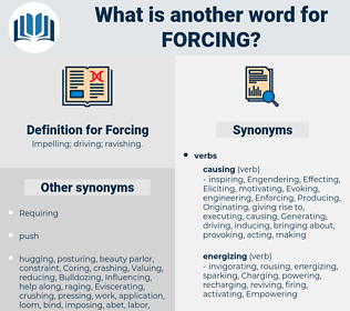 Forcing, synonym Forcing, another word for Forcing, words like Forcing, thesaurus Forcing