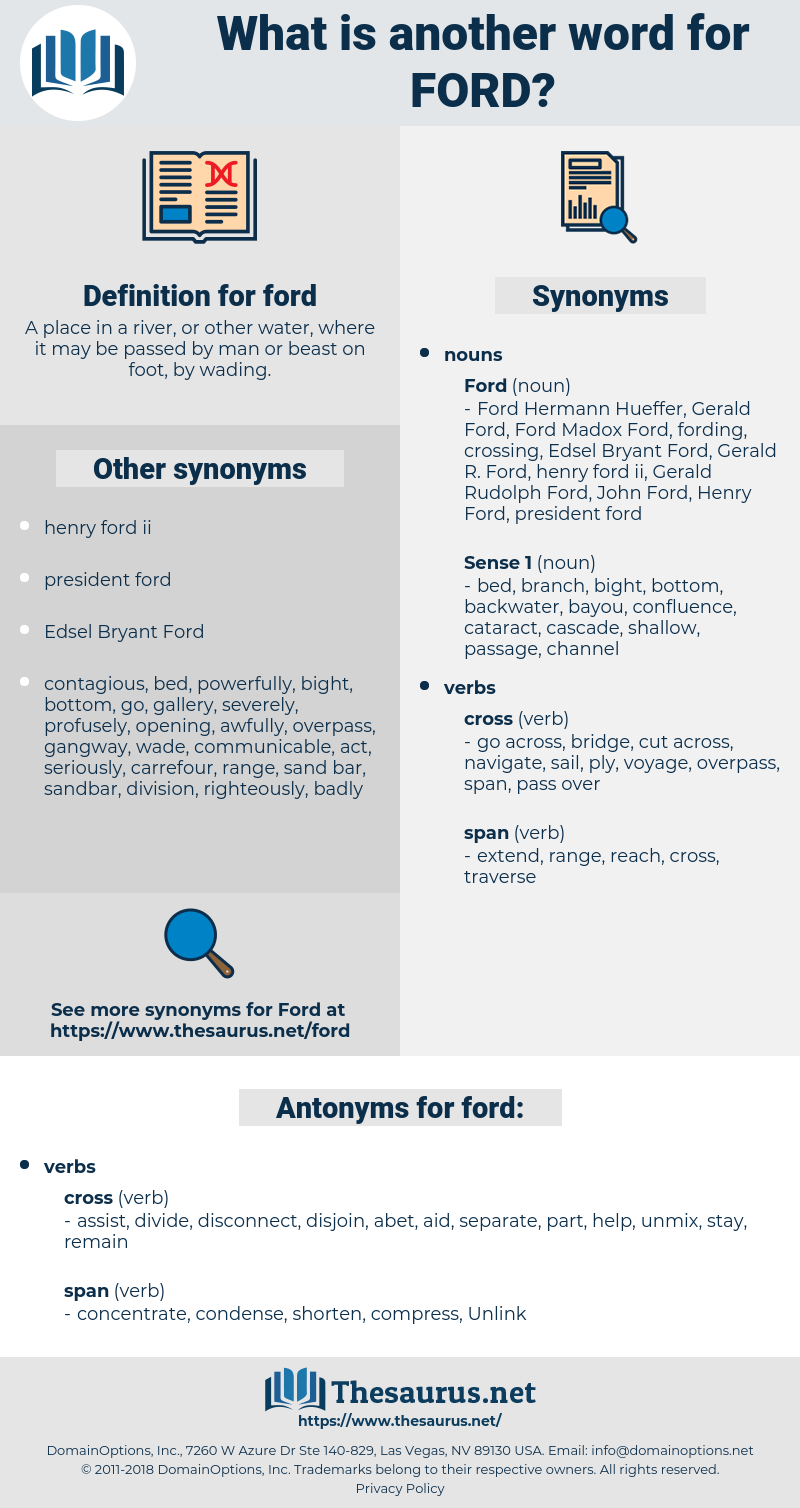 ford, synonym ford, another word for ford, words like ford, thesaurus ford
