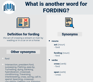 fording, synonym fording, another word for fording, words like fording, thesaurus fording