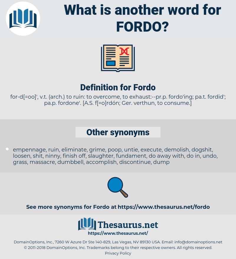 Fordo, synonym Fordo, another word for Fordo, words like Fordo, thesaurus Fordo