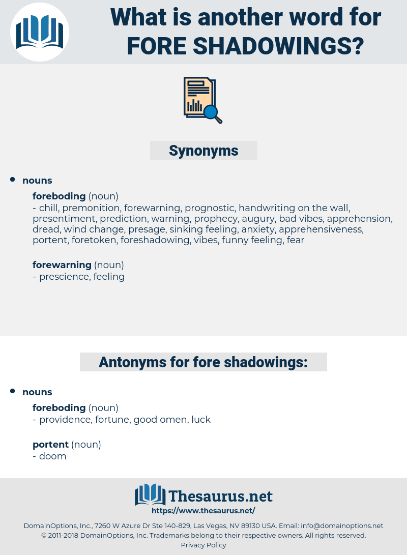 fore-shadowings, synonym fore-shadowings, another word for fore-shadowings, words like fore-shadowings, thesaurus fore-shadowings