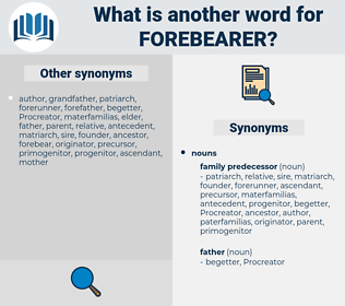 forebearer, synonym forebearer, another word for forebearer, words like forebearer, thesaurus forebearer