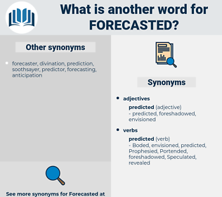 forecasted, synonym forecasted, another word for forecasted, words like forecasted, thesaurus forecasted