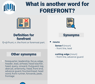 forefront, synonym forefront, another word for forefront, words like forefront, thesaurus forefront