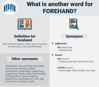 forehand, synonym forehand, another word for forehand, words like forehand, thesaurus forehand