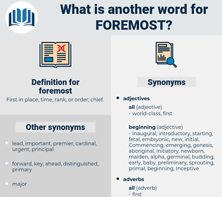 foremost, synonym foremost, another word for foremost, words like foremost, thesaurus foremost