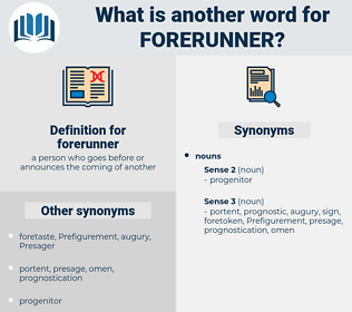 forerunner, synonym forerunner, another word for forerunner, words like forerunner, thesaurus forerunner