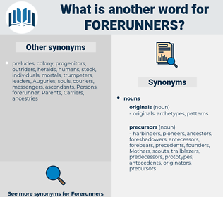 forerunners, synonym forerunners, another word for forerunners, words like forerunners, thesaurus forerunners