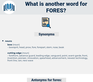 fores, synonym fores, another word for fores, words like fores, thesaurus fores