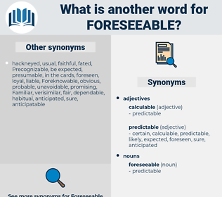 foreseeable, synonym foreseeable, another word for foreseeable, words like foreseeable, thesaurus foreseeable