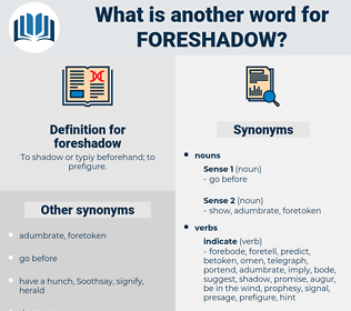 foreshadow, synonym foreshadow, another word for foreshadow, words like foreshadow, thesaurus foreshadow