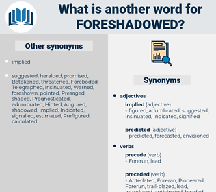 foreshadowed, synonym foreshadowed, another word for foreshadowed, words like foreshadowed, thesaurus foreshadowed