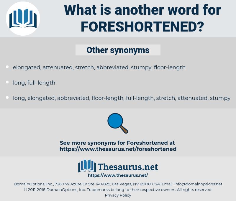 foreshortened, synonym foreshortened, another word for foreshortened, words like foreshortened, thesaurus foreshortened