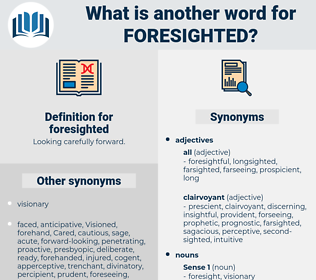 foresighted, synonym foresighted, another word for foresighted, words like foresighted, thesaurus foresighted