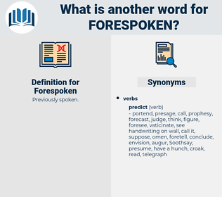 Forespoken, synonym Forespoken, another word for Forespoken, words like Forespoken, thesaurus Forespoken