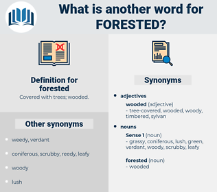 forested, synonym forested, another word for forested, words like forested, thesaurus forested