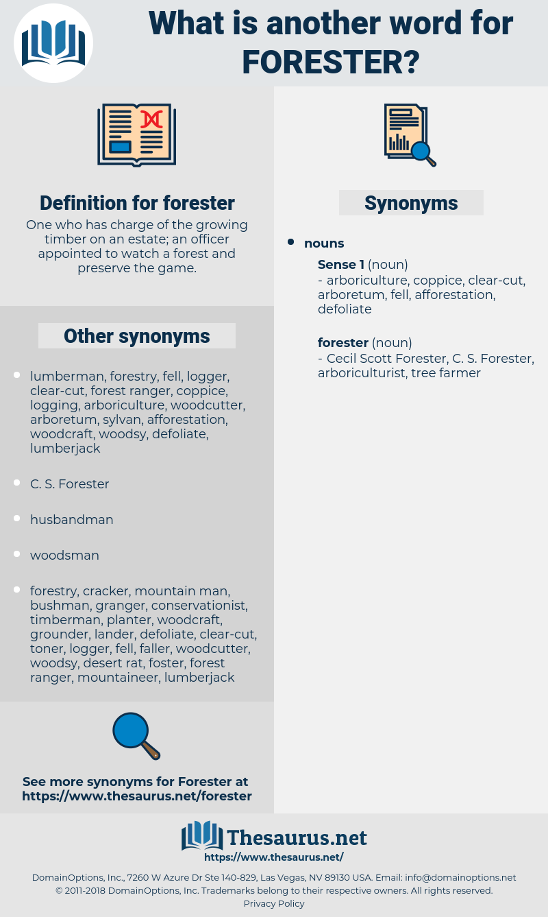 forester, synonym forester, another word for forester, words like forester, thesaurus forester