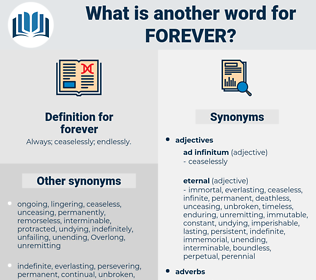 forever, synonym forever, another word for forever, words like forever, thesaurus forever