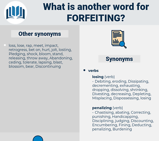 Forfeiting, synonym Forfeiting, another word for Forfeiting, words like Forfeiting, thesaurus Forfeiting