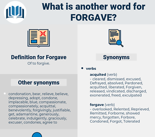 Forgave, synonym Forgave, another word for Forgave, words like Forgave, thesaurus Forgave