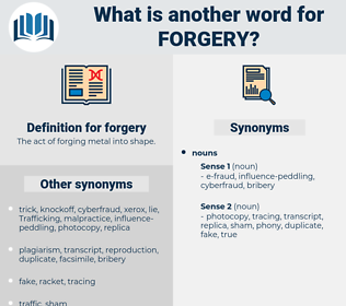 forgery, synonym forgery, another word for forgery, words like forgery, thesaurus forgery