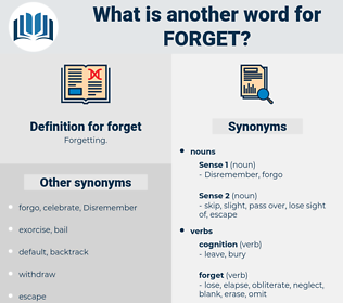 forget, synonym forget, another word for forget, words like forget, thesaurus forget