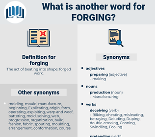 forging, synonym forging, another word for forging, words like forging, thesaurus forging