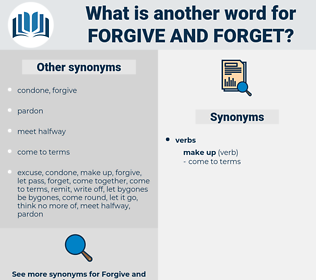 forgive and forget, synonym forgive and forget, another word for forgive and forget, words like forgive and forget, thesaurus forgive and forget