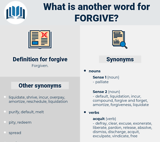forgive, synonym forgive, another word for forgive, words like forgive, thesaurus forgive
