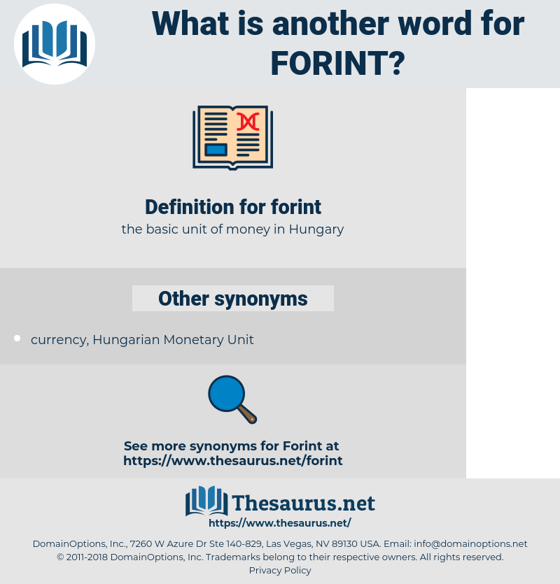 forint, synonym forint, another word for forint, words like forint, thesaurus forint