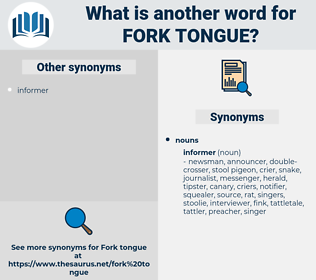 fork tongue, synonym fork tongue, another word for fork tongue, words like fork tongue, thesaurus fork tongue