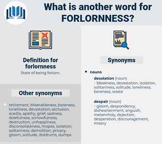 forlornness, synonym forlornness, another word for forlornness, words like forlornness, thesaurus forlornness