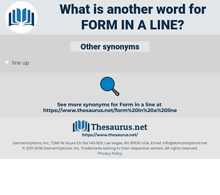 form in a line, synonym form in a line, another word for form in a line, words like form in a line, thesaurus form in a line
