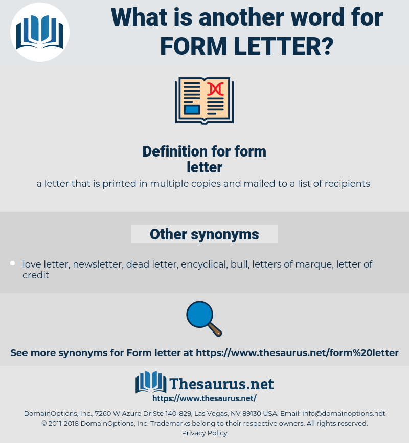 form letter, synonym form letter, another word for form letter, words like form letter, thesaurus form letter
