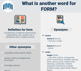 form, synonym form, another word for form, words like form, thesaurus form