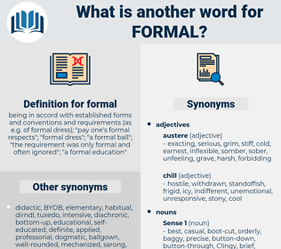 formal, synonym formal, another word for formal, words like formal, thesaurus formal