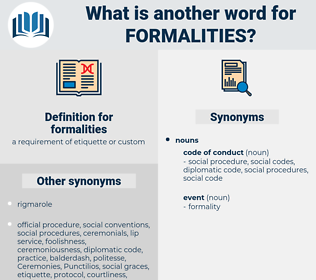 formalities, synonym formalities, another word for formalities, words like formalities, thesaurus formalities