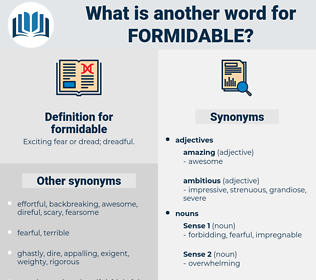 formidable, synonym formidable, another word for formidable, words like formidable, thesaurus formidable