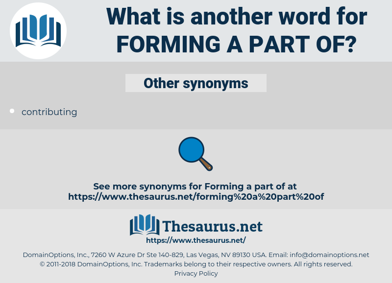 forming a part of, synonym forming a part of, another word for forming a part of, words like forming a part of, thesaurus forming a part of