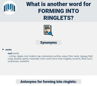 forming into ringlets, synonym forming into ringlets, another word for forming into ringlets, words like forming into ringlets, thesaurus forming into ringlets