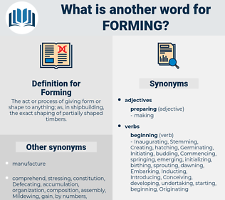 Forming, synonym Forming, another word for Forming, words like Forming, thesaurus Forming