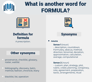 formula, synonym formula, another word for formula, words like formula, thesaurus formula