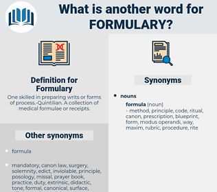 Formulary, synonym Formulary, another word for Formulary, words like Formulary, thesaurus Formulary