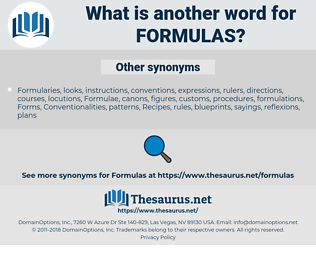 Formulas, synonym Formulas, another word for Formulas, words like Formulas, thesaurus Formulas